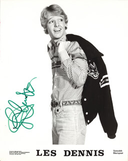 LES DENNIS - PRINTED PHOTOGRAPH SIGNED IN INK