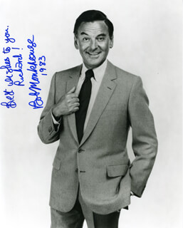 BOB MONKHOUSE - AUTOGRAPHED INSCRIBED PHOTOGRAPH 1983