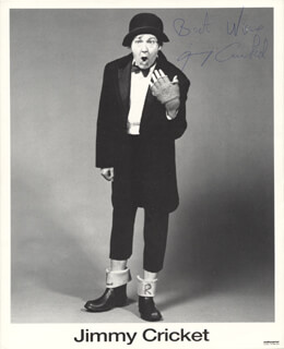 JIMMY CRICKET - AUTOGRAPHED SIGNED PHOTOGRAPH