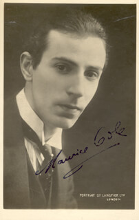 MAURICE COLE - AUTOGRAPHED SIGNED PHOTOGRAPH