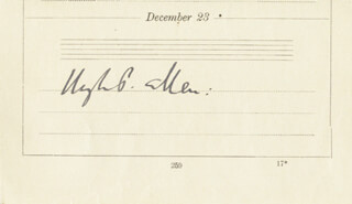 Autographs: SIR HUGH PERCY ALLEN - SIGNATURE(S) 12/23