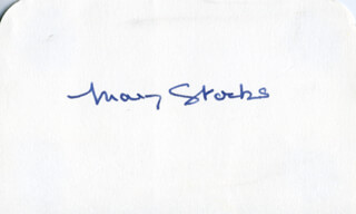 MARY STOCKS - AUTOGRAPH