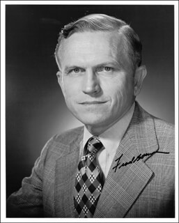 COLONEL FRANK BORMAN - AUTOGRAPHED SIGNED PHOTOGRAPH