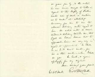 MAJOR GENERAL GEORGE B. MCCLELLAN - AUTOGRAPH LETTER SIGNED 04/26/1877