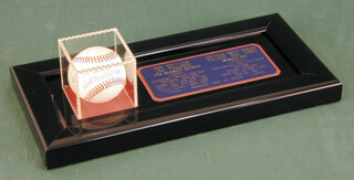 TED WILLIAMS - AUTOGRAPHED SIGNED BASEBALL CO-SIGNED BY: WILLIAM H. MEMPHIS BILL TERRY