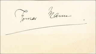 Autographs: THOMAS MANN - SIGNATURE(S)
