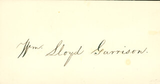 WILLIAM LLOYD GARRISON - AUTOGRAPH