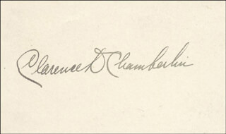 Autographs: CLARENCE D. CHAMBERLIN - SIGNATURE(S)