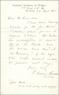 THOMAS ADDISON RICHARDS - AUTOGRAPH LETTER SIGNED 04/23/1866