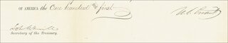 Autographs: PRESIDENT ULYSSES S. GRANT - CIVIL APPOINTMENT DOUBLE SIGNED 11/22/1876 CO-SIGNED BY: LOT M. MORRILL