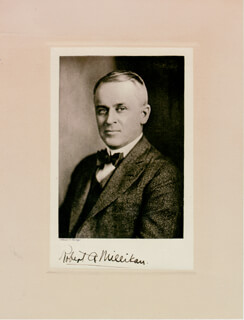 ROBERT A. MILLIKAN - BOOK PHOTOGRAPH SIGNED