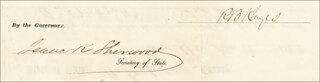 Autographs: PRESIDENT RUTHERFORD B. HAYES - CIVIL APPOINTMENT SIGNED 04/13/1869 CO-SIGNED BY: ISAAC R. SHERWOOD