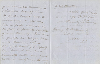 Autographs: REVERDY JOHNSON - AUTOGRAPH LETTER SIGNED 12/17/1853