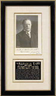 PRESIDENT WILLIAM H. TAFT - AUTOGRAPHED INSCRIBED PHOTOGRAPH