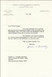 Autographs: GENERAL OMAR N. BRADLEY - TYPED LETTER SIGNED 03/09/1965