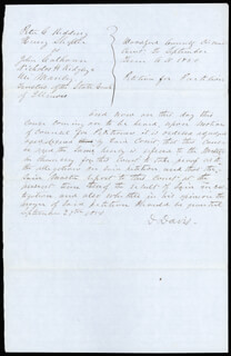 Autographs: ASSOCIATE JUSTICE DAVID D. DAVIS - AUTOGRAPH DOCUMENT SIGNED CIRCA 1850