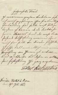 ANTON RUBINSTEIN - AUTOGRAPH LETTER SIGNED 07/19/1863
