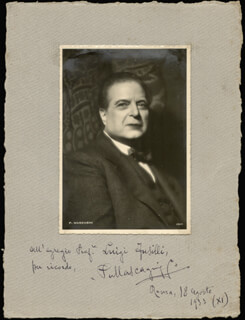 PIETRO MASCAGNI - INSCRIBED PHOTOGRAPH MOUNT SIGNED 08/18/1933