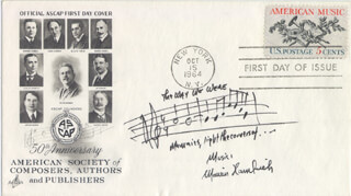 MARVIN HAMLISCH - AUTOGRAPH MUSICAL QUOTATION SIGNED 10/15/1964