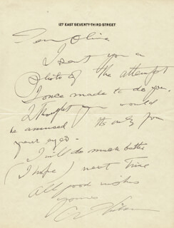 CHARLES DANA GIBSON - AUTOGRAPH LETTER SIGNED