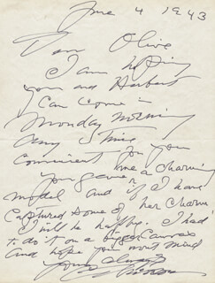 CHARLES DANA GIBSON - AUTOGRAPH LETTER SIGNED 06/04/1943