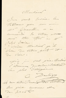 CHARLES F. DAUBIGNY - AUTOGRAPH LETTER SIGNED