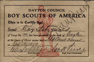 Autographs: DANIEL C. BEARD - DOCUMENT SIGNED 10/19/1923