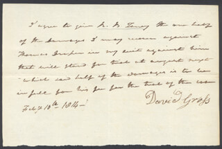 Autographs: CHIEF JUSTICE ROGER B. TANEY - AUTOGRAPH DOCUMENT SIGNED 02/10/1814