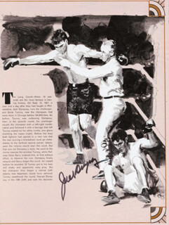 JACK DEMPSEY - ILLUSTRATION SIGNED