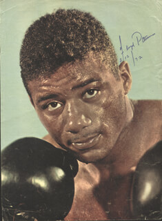 FLOYD PATTERSON - MAGAZINE PHOTOGRAPH SIGNED 02/12/1972