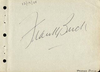 Autographs: FRANK BRING 'EM BACK ALIVE BUCK - SIGNATURE(S) CO-SIGNED BY: SYLVIA SIDNEY