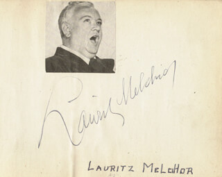LAURITZ MELCHIOR - AUTOGRAPH CO-SIGNED BY: CESAR ROMERO