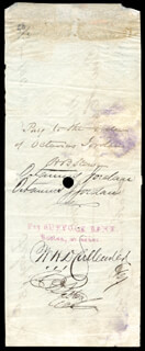 Autographs: HARRIET BEECHER STOWE - CHECK ENDORSED 02/13/1864