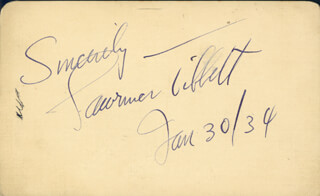 LAWRENCE TIBBETT - AUTOGRAPH SENTIMENT SIGNED 01/30/1934