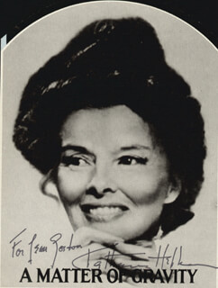 KATHARINE HEPBURN - INSCRIBED MAGAZINE PHOTO SIGNED