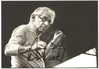 LEONARD BERNSTEIN - PICTURE POST CARD SIGNED