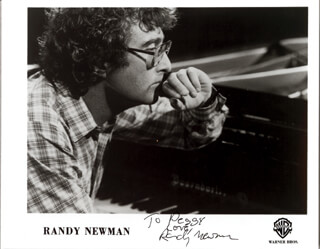 RANDY NEWMAN - AUTOGRAPHED INSCRIBED PHOTOGRAPH