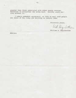 WILLIAM A. HIGINBOTHAM - TYPED LETTER SIGNED 02/07/1975