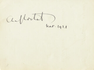 ALFRED-DENIS CORTOT - AUTOGRAPH 03/1921 CO-SIGNED BY: JACK WARNER, FREDERIC LAMOND