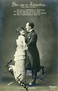 OSCAR SABO - PICTURE POST CARD SIGNED CO-SIGNED BY: LISA WEISE