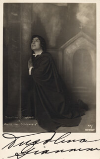DUSOLINA GIANNINI - PICTURE POST CARD SIGNED CIRCA 1934