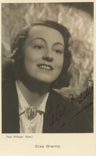 ELSE BREMS - PICTURE POST CARD SIGNED