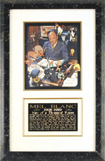 MEL BLANC - AUTOGRAPHED INSCRIBED PHOTOGRAPH 06/11/1979