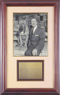 WALTER E. WALT DISNEY - AUTOGRAPHED INSCRIBED PHOTOGRAPH