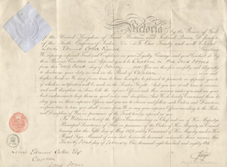 Autographs: DUKE OF CAMBRIDGE - MILITARY APPOINTMENT SIGNED 02/21/1881