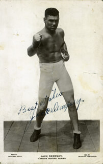 JACK DEMPSEY - PRINTED PHOTOGRAPH SIGNED IN INK