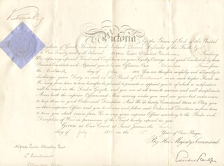 Autographs: QUEEN VICTORIA (GREAT BRITAIN) - MILITARY APPOINTMENT SIGNED 07/06/1889
