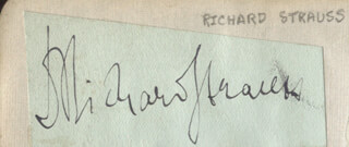 RICHARD STRAUSS - CLIPPED SIGNATURE