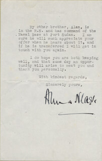 ANNA NEAGLE - TYPED LETTER SIGNED 03/30/1943
