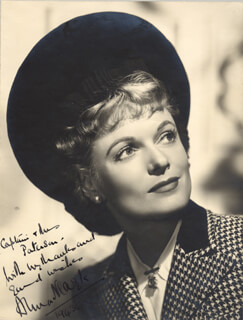 ANNA NEAGLE - AUTOGRAPHED INSCRIBED PHOTOGRAPH 1943